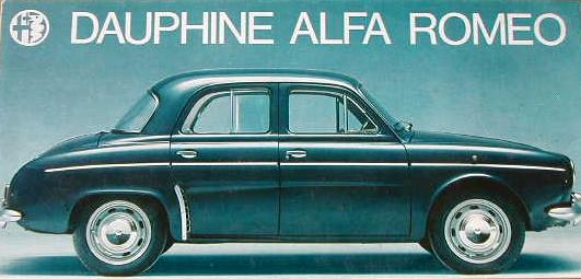 Dauphine ALFA ROMEO : Catalogue 1960